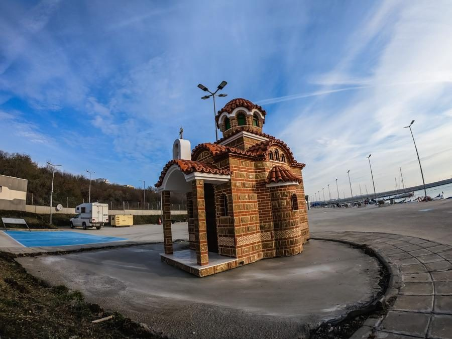New chapel at the fishing port of Sarafovo